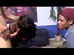 Ana Foxxx Fucks A white Guy In Front Of Her BF
