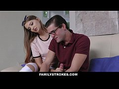 FamilyStrokes- Step-Sis Seduces Brother For Hom...