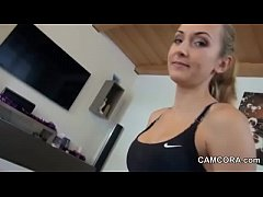 German Step-Sister give Handjob to brother when...