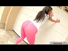All Internal Tights hug Samia's ass and after d...