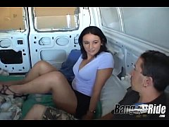 Hot girl craving for anal sex in the van