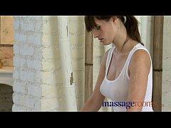 Massage Rooms Big natural breasts and small han...