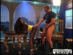 Black Babe Stacy screams for white cock - Germa...