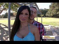 Big tit brunette just got drilled in front of her husband