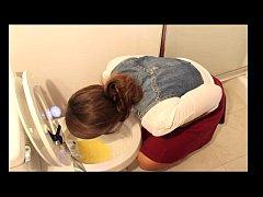 Overeating girl vomit puke puking deep throat g...