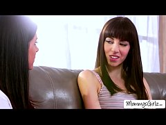 Mom India guides Hannah into lesbian sex for th...