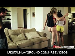 Chastity Lyyn and Jada Stevens take turns being...