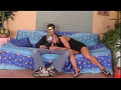 Amateur couple with masks fucking and filmed