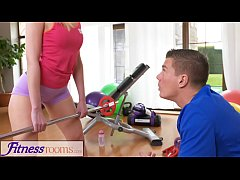 Fitness Rooms Cock hungry blonde Russian MILF d...