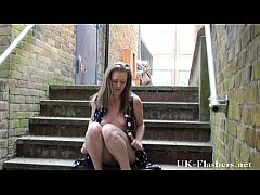 Uk teen flashing and blonde exhibitionism outdo...