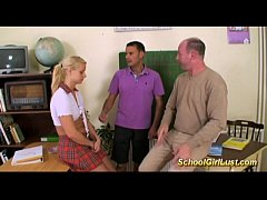 Racy student is caught in threesome