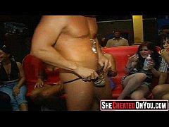 46 Rich milfs blowing strippers at underground cfnm party!03
