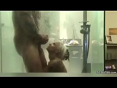 German Couple Fuck in Shower and Filmed with Hi...