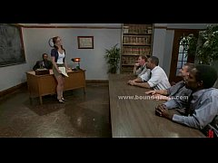 Young college teacher dominated in rough bdsm g...