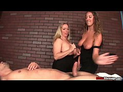 meanmassage-Two bossy ladies tag-team a poor yo...