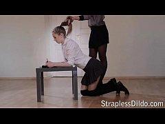 strapless dildo sex videos on straplessdildo.hugescock.com