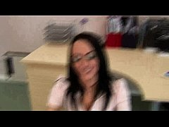 Hottie does not act lady like on his hard dick HD