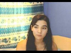Hot hairy asian teen Joy mastrubating on hotcam...