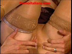 Old slut mature redhead makes anal Vecchia porc...
