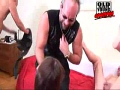 Piss Old and Young Gangbang 1