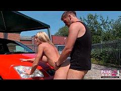 PureXXXFilms Big tits blonde gets carwash cock