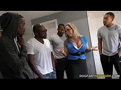 Amber Lynn Bach gets gangbanged and creampied b...