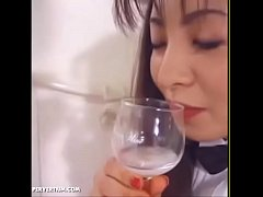 Japanese Waitress Blowjobs And Cum Swallow