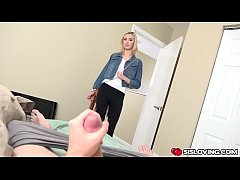 Haley Reed handjob and blowjob step bro in his room