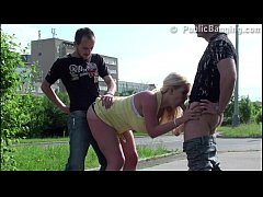 Huge tits star Stella Fox PUBLIC street gangban...