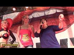 Spanish blonde pornstars tappersex on stage