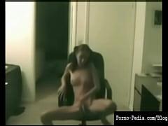 Hot teen girl caught masturbating on webcam