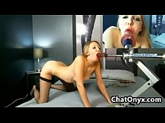 Horny Cam Chick And Her Machine