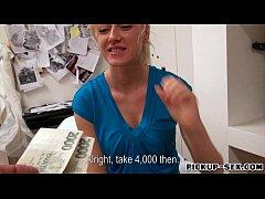Busty Czech girl banged by stranger guy in exchange dor cash