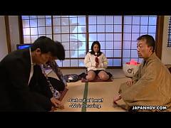 Yakuza boss slamming the bitches wet pussy
