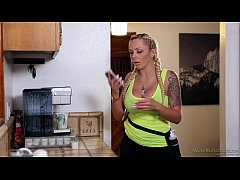Anikka Albrite and her friend's young daughter,...