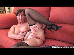 British milf Joy exposing her big tits and hot ...
