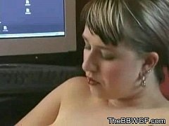 Horny Fat Chubby Ex GF playing with her Big Tit...