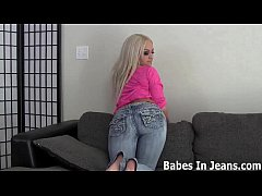 I love the way these skin tight jeans make my a...
