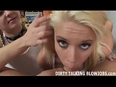 Talking dirty while giving you a POV blowjob