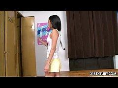 Beautiful Tina Walker caught by teacher