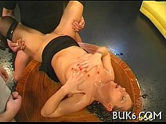 Wet oral job with titty fuck