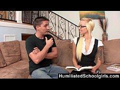 Humiliated Schoolgirls - Beautiful Teen Learning Spanish
