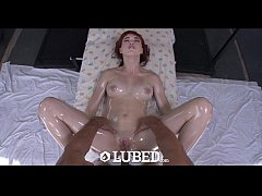 LUBED - Redhead Anny Aurora lift her short skir...