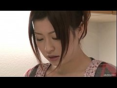 Riko has a dildo dream in her kitchen and uses ...