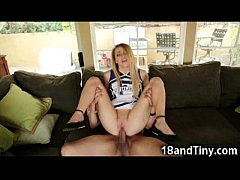 Extra Small Cheerleader Gets Cum!
