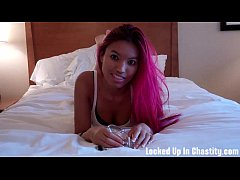 Princess Asia holds the key to your chastity de...