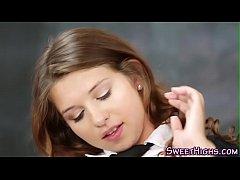 Jizzy faced teenager nail