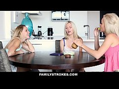 FamilyStrokes - Dad Creeps On Step Daughters While Mom Sleeps