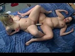 Chubby Horny Plumper friends playing with a dil...