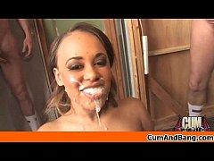 Ebony Girl Gets Slammed by some white dudes 26